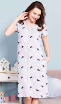 Dámské domácí šaty s krátkým rukávem Nebe