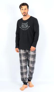 Pánské pyžamo dlouhé Sova