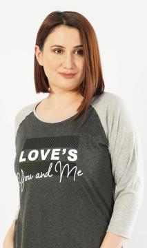 Dámská noční košile s tříčtvrtečním rukávem You and me