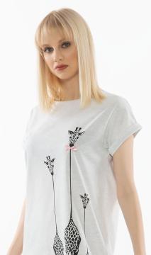 Dámská noční košile s krátkým rukávem Klára