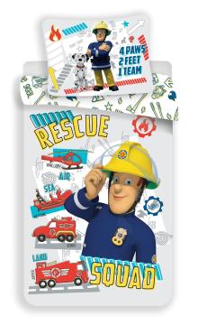 """Disney povlečení do postýlky Požárník Sam """"Rescue squad"""" baby 100x135, 40x60 cm"""