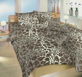 Povlečení bavlna Káva hnědá 140x200, 70x90 cm