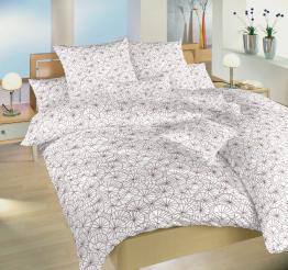 Povlečení bavlna Leknín bordó 140x220, 70x90 cm