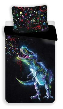 Povlečení fototisk Dinosaur Black 140x200, 70x90 cm