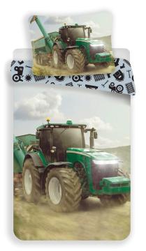 Povlečení fototisk Traktor green 140x200, 70x90 cm
