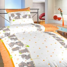 Povlečení bavlna Sloni oranžoví 40x40 cm povlak