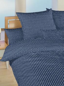 Povlečení bavlna do postýlky Hvězdička bílá na tmavě modrém 90x130, 45x60 cm