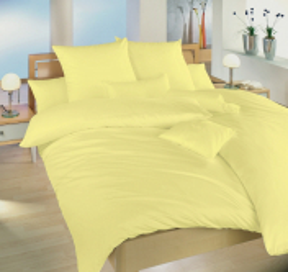Povlečení krep žlutá UNI 140x200, 70x90 cm