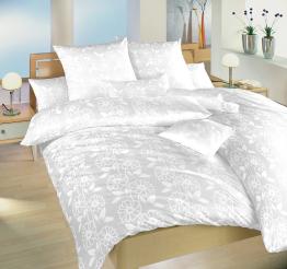 Povlečení damašek Jiřiny bílé 40x40 cm povlak