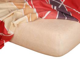 Froté prostěradlo medová 90x220x15 cm