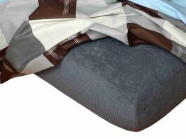 Froté prostěradlo tmavě šedá 120x200x15 cm