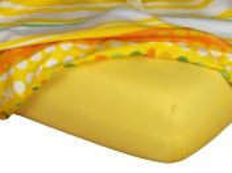 Jersey prostěradlo tmavě žlutá 90x200x18 cm