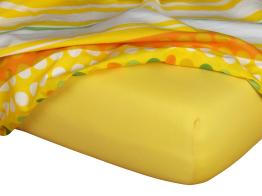 Jersey prostěradlo tmavě žlutá 140x200x18 cm