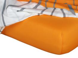 Jersey prostěradlo pomeranč 90x200x18 cm