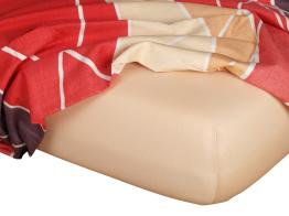 Jersey prostěradlo medová 90x220x18 cm