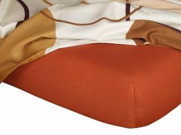 Jersey prostěradlo cihlová 80x200x18 cm