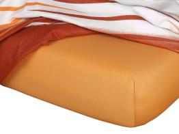 Jersey prostěradlo karamel 90x200x18 cm