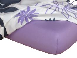 Jersey prostěradlo fialová 80x220x18 cm