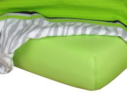 Jersey prostěradlo kiwi 90x220x18 cm