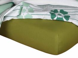 Jersey prostěradlo olivová 80x200x18 cm