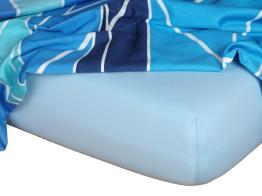 Jersey prostěradlo světle modrá 80x220x18 cm