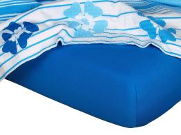 Jersey prostěradlo modř královská 80x220x18 cm