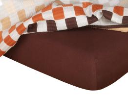 Jersey prostěradlo tmavě hnědá 160x200x18 cm