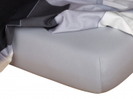 Jersey prostěradlo šedá 90x200x18 cm
