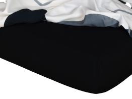 Jersey prostěradlo černá 80x220x18 cm