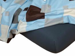 Jersey prostěradlo tmavě šedá 90x220x18 cm