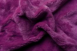 Prostěradlo mikroflanel tmavě fialová 180x200x20 cm