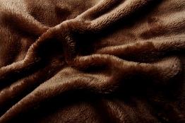 Prostěradlo mikroflanel tmavě hnědá 90x200x20 cm