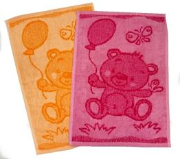 Dětský ručník Bear pink 30x50 cm
