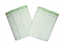 Utěrky Bambus 50x70 cm Kostka malá zelená 3 ks