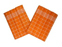 Utěrka Pozitiv Egyptská bavlna 50x70 cm oranžová/bílá 3 ks