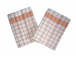 Utěrka Negativ Egyptská bavlna 50x70 cm bílá/oranžová 3 ks