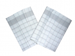 Utěrka Negativ Egyptská bavlna 50x70 cm bílá/šedá 3 ks