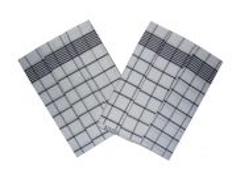 Utěrka Negativ Egyptská bavlna 50x70 cm bílá/černá 3 ks