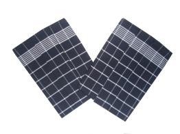 Utěrka Pozitiv Egyptská bavlna černá/bílá 50x70 cm balení 3 ks