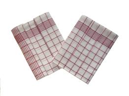 Utěrka Negativ Egyptská bavlna 50x70 cm bílá/vínová 50x70 cm 3 ks