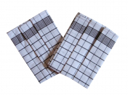Utěrka Negativ Egyptská bavlna 50x70 cm bílá/tmavě hnědá 3 ks