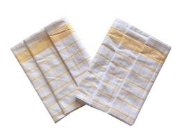Utěrka Negativ Egyptská bavlna bílá/žlutá 3 ks
