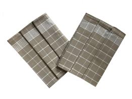 Utěrka Pozitiv Egyptská bavlna 50x70 cm béžová/bílá 3 ks