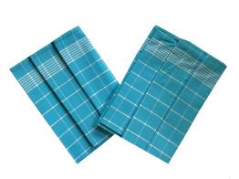 Utěrka Pozitiv Egyptská bavlna 50x70 cm tyrkys/bílá 3 ks