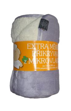 Deka mikrovlákno Ovce prošev šedá/bílá   150x200
