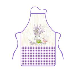 Kuchyňská zástěra Levandule ptáček 50x76 cm